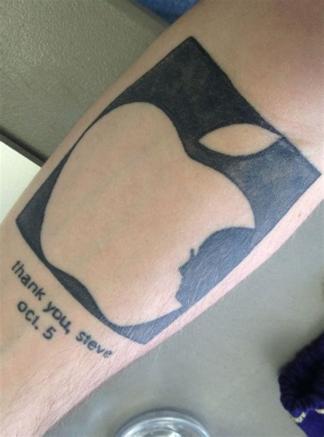 tattoo apps for mac check out this apple fanboy s tattoo memorial for steve
