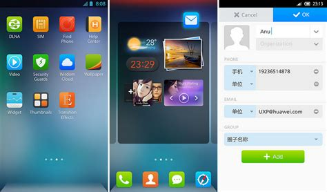 themes huawei emotion ui 2 0 emotion ui 2 0 les premi 232 res images de l interface