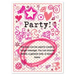 girly invitations cards on pingg