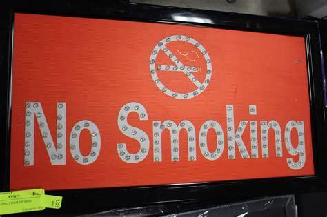 no smoking signs edmonton no smoking light up sign