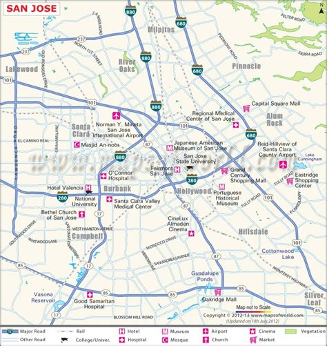 san jose map of california san jose city map maps
