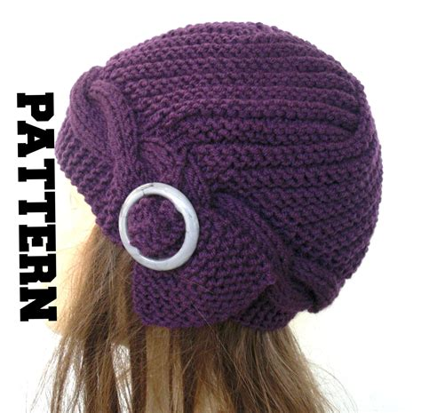 hat pattern download cable knit hat pattern instant download knit hat pattern