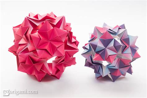 Origami Kusudamas - this week in origami august 8 2015 edition