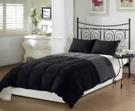 home design bedding down alternative the chezmoi black grey super soft goose down comforter set