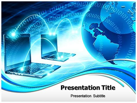 Computer Network Powerpoint Presentation Templates Computer Templates Ppt Free Download Computer Powerpoint Computer Templates