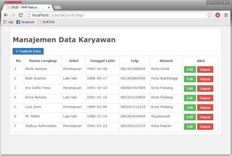 simple crud node js and mysql membuat crud dengan php mysql