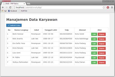 membuat database sederhana dengan php mysql membuat crud dengan php mysql