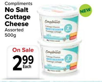 compliments no salt cottage cheese on sale salewhale ca