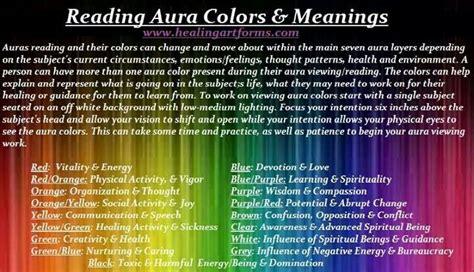 aura colors meanings reiki auras en meditatie