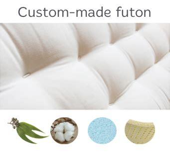 custom made futon mattress custom made mattress futon d or natural