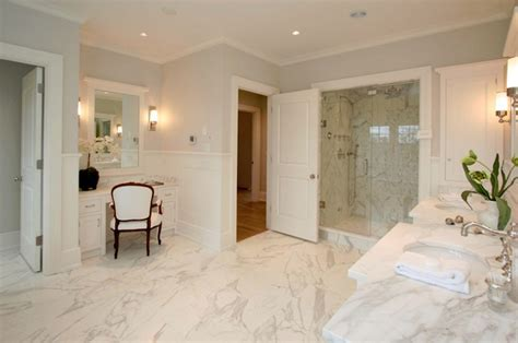 Marble Master Bathroom Calcutta Marble Master Bathroom Traditional Bathroom
