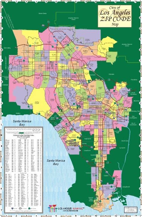 la zip code map only pictures zip code map los angeles