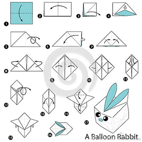 How To Make A Paper Bunny Step By Step - step by step how to make origami a balloon
