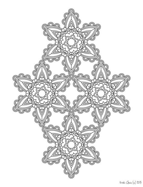 intricate coloring pages pdf printable intricate mandala coloring pages instant