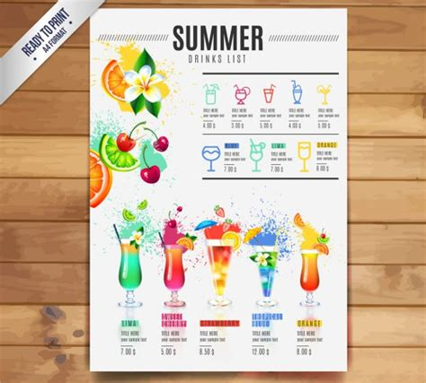 21 Cocktail Menu Templates Free Premium Download Cocktail Menu Template Free