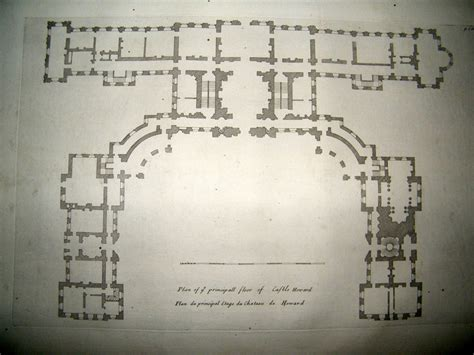 castle howard floor plan vitruvius britannicus c1720 architectural plan principal