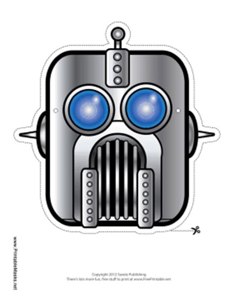 printable robot mask printable robot mask mask