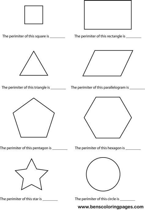 printable area of page free coloring pages of area and perimeter