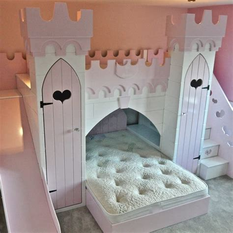 princess bed with slide alexa princess castle with slide children s themed beds