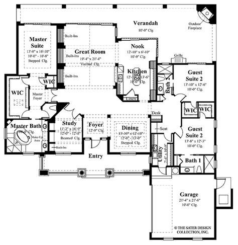 mediterranean style floor plans mediterranean style house plan 3 beds 3 baths 2885 sq ft