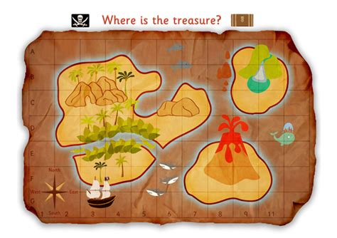 pirate treasure map poster free early years primary