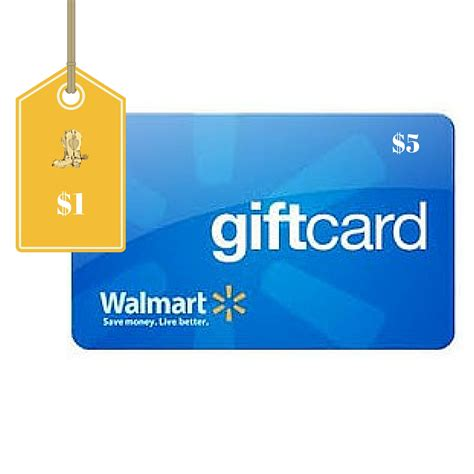 How To Get Cash From A Walmart Gift Card - 5 walmart gift card only 1