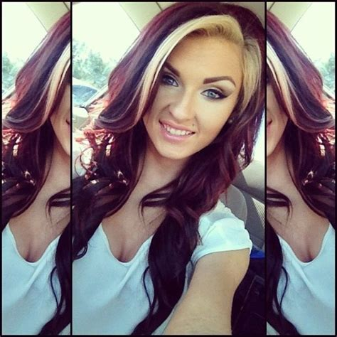 very sexy burgundy hair color awesome hair style blonde bangs burgundy brown hair styles color
