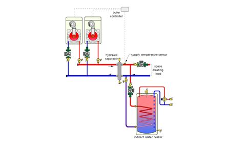 chilled water buffer tank piping system diagrams chilled