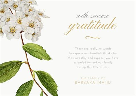 template card for funeral flowers customize 33 funeral thank you card templates canva