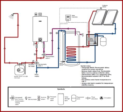 solar water heaters installation for piping diagram for