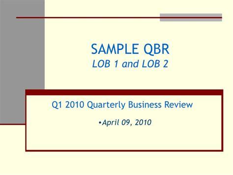templates for quarterly business reviews sle qbr slides