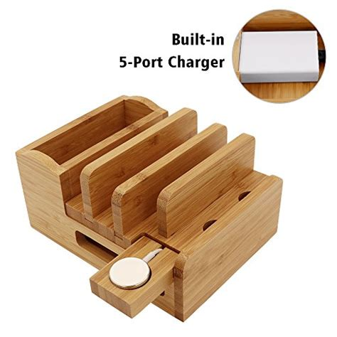 get the deal 5 off bamboo multi device cords organizer stand icozzier find offers online and compare prices at wunderstore