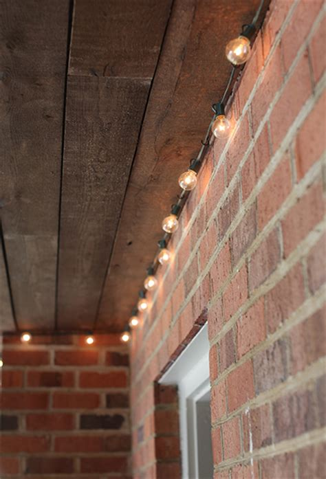 How To Install Patio Lights with Installing Outdoor Happy Lights 7th House On The Left