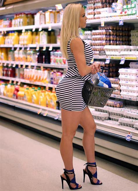 Hotminiskirts Grocery Shopping Done Right By Beautiful Lauren Kagan Smokin Hot Fashion And