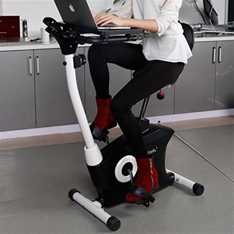 exercise bike with laptop desk loctek exercise bike desk bike office cardio indoor