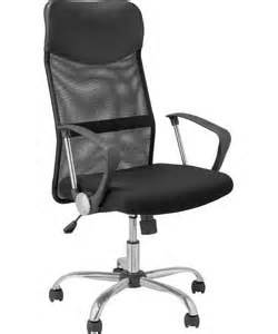 Leather Desk Chair Argos Buy Mesh Leather Effect Headrest Adjustable Office Chair