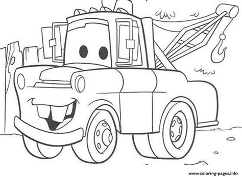 coloring pictures of mater from cars disney cars mater coloring pages printable