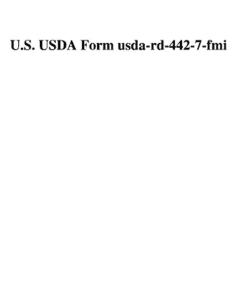 usda rd rd 442 7 fill online printable fillable blank pdffiller