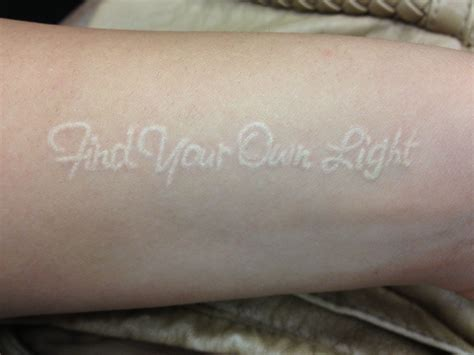 where to buy tattoo ink white ink find your own light on arm buddhism