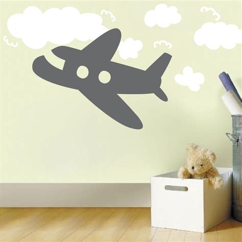 Airplane Wall Decal Kids Room Decor Trendy Wall Designs Airplane Wall Decals For Nursery