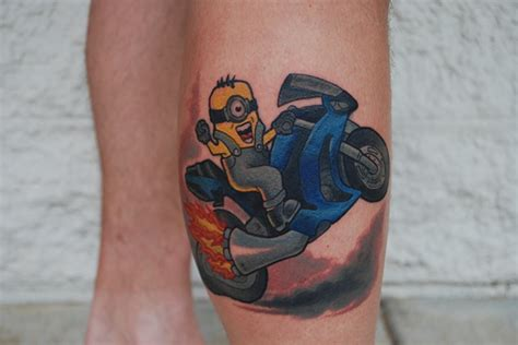 david zobel tattoo artist motorcycle minion