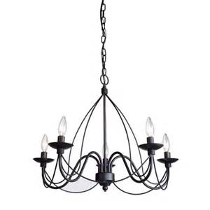 Black Wrought Iron Chandeliers Artcraft Wrought Iron Five Light Black Chandelier Ac1485eb