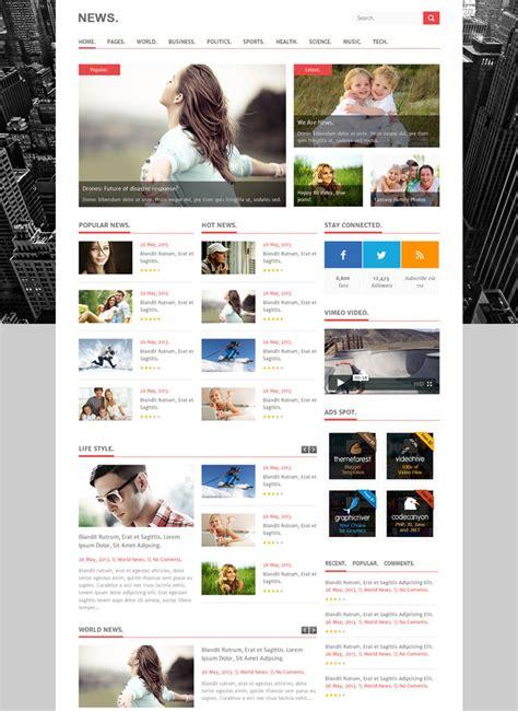 Best Premium Html News Website Templates News Html Template