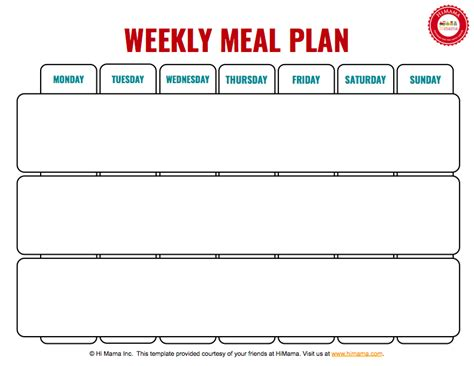 himama daycare menu template child care weekly menu