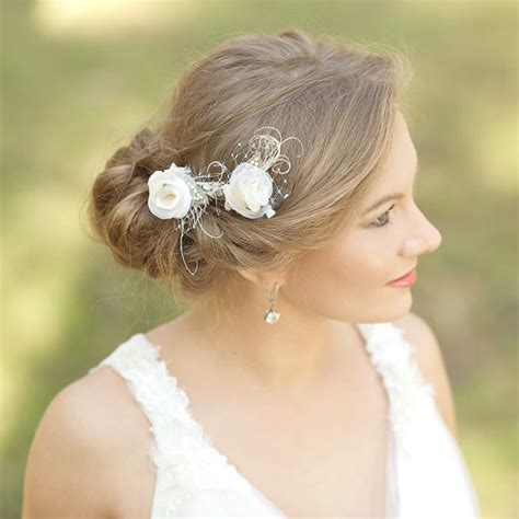 Vintage Style Wedding Hair Pieces by Burlap Wedding Hair Rustic Wedding Hairpiece Vintage