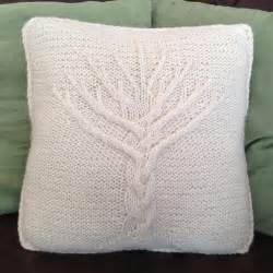 Name knitting tree of life 16 x 16 pillow cover
