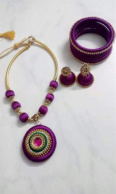Handmade Thread Jewellery - 308 best images about silk thread jewelry on