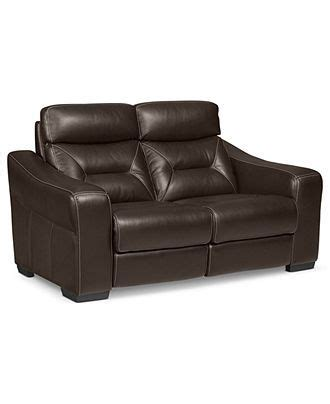judson sofa judson leather reclining loveseat dual power recliner 66w