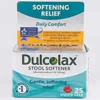 dulcolax stool softener docusate sodium dosage