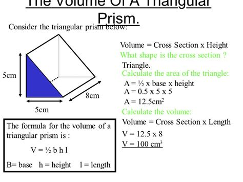triangle cross section volume ppt video online download
